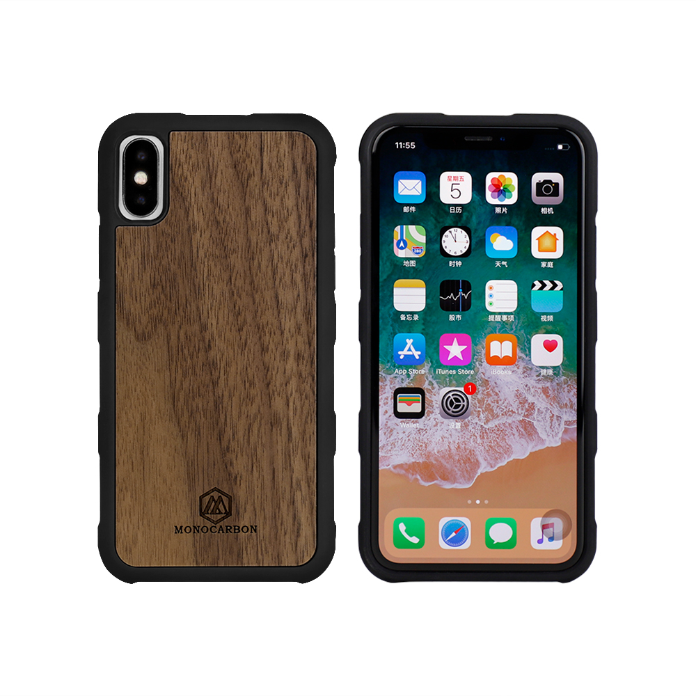 Natural Wooden mobile phone case for iPhone X