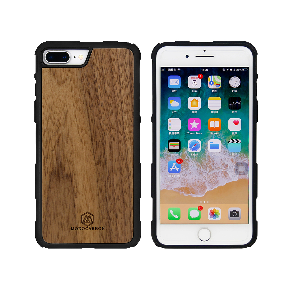 Natural Wooden mobile phone case for iPhone 7plus 8plus