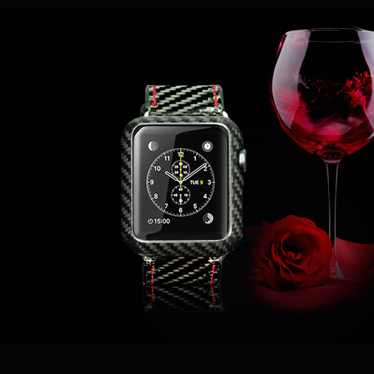 check out aad74 f937f Apple Watch Carbon Fiber Cover Released